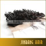 Hot selling 7A Silk Base Frontal Brazilian Deep Wave Ear To Ear Full Frontal Lace Closure With Baby Hair