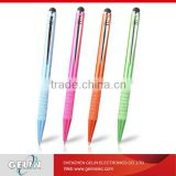 new colorful rubber tip aluminium capacitive touchscreen ball point stylus pen For Samsung