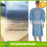 Hygiene SMS Spunbond Non woven disposable Surgical gown Hospital geotextile fabric                                                                         Quality Choice