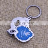 Wholesale metal leaves shape nail clippers bottle opener/ blank toe nail clippers with epoxy sticker