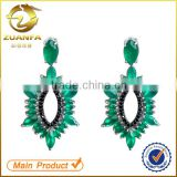 ladies earrings designs pictures jewelry wholesale china drop emerald zircon crystal earrings
