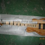 Custom bass guitar Neck-through Birdeye wood body quality maple neck and fingerboard bottom price