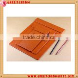 Decorative leather paper file folder Clip