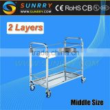 Hot Sales Hotel Trolley Room Service Cart Equipment And Mobile Cart With Wheels