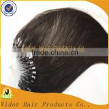 Wholesale Price micro braid hair extension Double Drawn Brazilian Micro Ring loop Hair Extensions