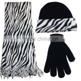 2016 New design low price fashionable wholesale infinity hat and scarf sets, scarf gloves and hat,