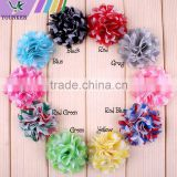 Chiffon Tulle Mesh Fabric Flower Without Clips For Baby Girls Hair Accessories Hand Craft DIY 5.5cm 10colors,YDKM06