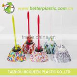 Manufacturer hot sale colorful flower designed plastic wholesale bathroom toilet brush holder