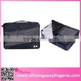 Best Selling Navy 3pcs/Set Travel Organizers Cube Packing Pouch bag