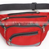 2016 promotional fashion designer waist bag anti-theft money belt bag sports running belt bag