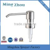 MZ-Hot selling stainless steel long nozzle lotion pump / soap pump