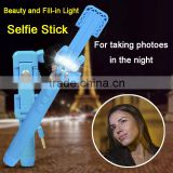 Selfie Monopod LED Flash Smartphone Selfie Stick Supreme Mini Night Version LED Filling Light For Android Phone for iPhone