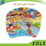 wholesale pp polypropylene 2d lenticular sticker