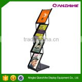 iron black book stand advertising rack A4 one sides brochure holder
