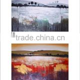 2015 popuar wholesale natural scenery landscape canvas oil paintings for decoration