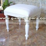 White Dressing Stool for Dresser Mirror - Bedroom Set Furniture