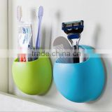 Wall mounted Suction cup Soap Box /Toothbrush Toothpaste Holder Kitchen Bathroom Organizer/ plastic toothbrush box container