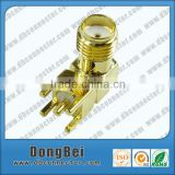 50ohm female right angle sma waterproof connector