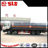 Brand new JAC 8*4 flammable liquid transport stainless steel tank truck 25-25cbm capacity