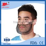 Black disposable nylon mesh mask for food industry mask