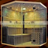 HOT 3 Luxury design mosaic infrared sauna shower combination sauna with stone