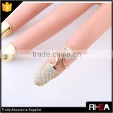 Crown Ring Fashion Design finger Nail Ring with Rhinestone