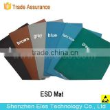 ES14101 glossy/dull blue black gray antistatic rubber table mat ESD table mat