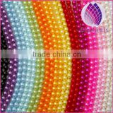 wholesale price connecting 8mm immitation pearl ABS plastic round plastic beads chain for clothing and christmas decoration
