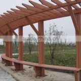 Cheap Waterproof WPC Pergola Anti UV Wood Plastic Composite Boards Pergola For Outdoor Garden