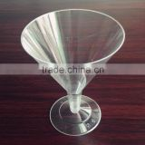 Disposable hard plastic 200ml cocktail glass Martini cup
