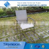 ferrari fabric chair, stainess steel chair with teak wood arm, new design outside chairs, porch chairs, outdoor chair(SSC007)