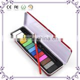 Non-toxic popular cake watercolor paint set for drawing 13 colors watercolor paint set
