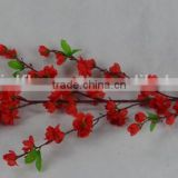 Red color cherry wholesale peach blossom branch with low price