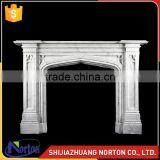 modern simple style white marble used fireplace mantel NTMF-F524X
