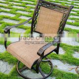 upscale design aluminum sling swivel chair price/swivel rocker chair base/dining room swivel chair Swivel Rocker