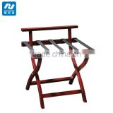 Solid Wood Hotel Room Luggage Rack with Back