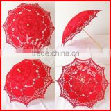 2015 new Battenburg lace parasol umbrella for wedding