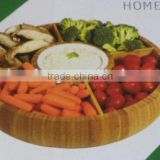 2017 Totally natural bamboo snack serving tray