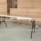 "table30*96"" plywood ALU edge banquet folding rect table with USA leg"