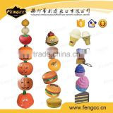 PU foam key chain stress toy / stress ball in fruit shape