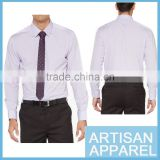 Wholesale Business Men's Office Wear Long Sleeve Shirts Pink 100% Cotton dress Shirt for men& OEM Service