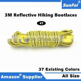 Professional Customized 3M Bright Adjustable Hiking Bootlaces Reflective Lace Cord Manufacturer Sneakers Shoelaces