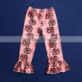 High Quality Wholesale Kids Casual Pants Elephant Printing Ruffle Pants Fall Infant Clothing