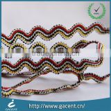 Golden lurex piping tape and binding cord for garment