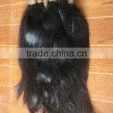 remy braided hair cut directly from girls, wholesale human hair material for making hair products