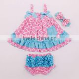 2 PCS Baby Toddlers Infant Girls Cotton Cute Dress+ Underpants Outfit Sets