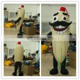 HI CE 2017 New design Fruit Banana mascot costume with mustache for adults