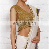 GOLD RAW SILK BOLLYWOOD BLOUSE FOR WOMEN