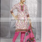 INDIAN PAKISTANI DESIGNER PINK WHOLESALE PRINTED SUMMER SEASON COTTON KURTI/SALWAR KAMEEZ DRESS COLLECTION 2015