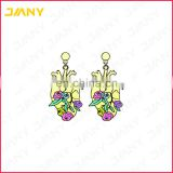 Factory Direct Gold Designs Soft Enamel Earrings with Epoxy